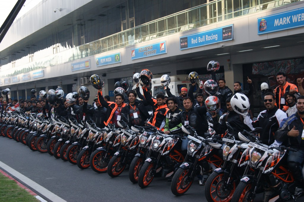 KTM 390 Duke owners track day at Buddh International Circuit