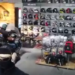 Look What This Guy Did With His Honda Gold Wing Inside A Motorcycle Showroom