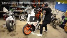 Crazy Extreme Use Of KTM RC 390 Motorcycle Stunt Video BySuperretards